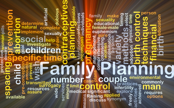 Family planning background concept glowing Stock photo © kgtoh