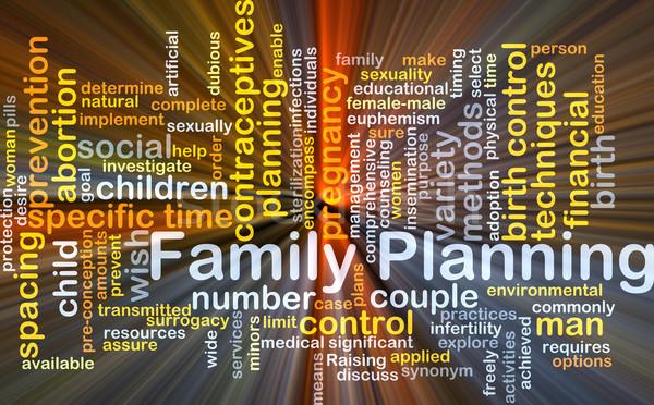 Familie planning illustratie licht Stockfoto © kgtoh