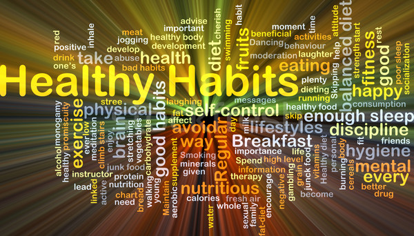 Stock photo: Healthy habits background concept glowing