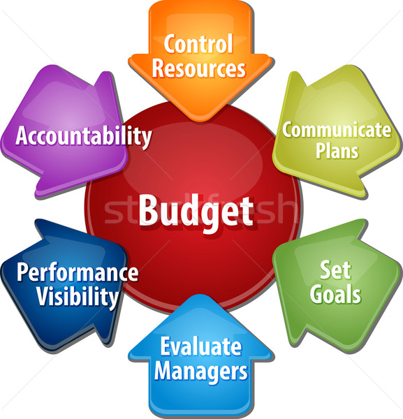 Budget purposes business diagram illustration Stock photo © kgtoh