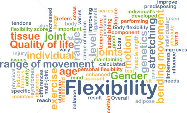 Flexibility background concept Stock photo © kgtoh