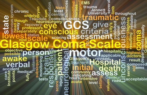 Glasgow mérleg izzó szófelhő illusztráció fény Stock fotó © kgtoh