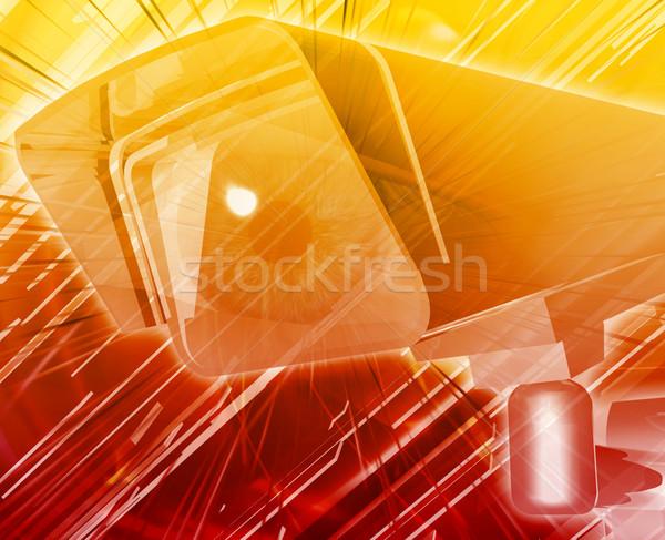Elektronikus megfigyelés absztrakt digitális illusztráció digitális kollázs Stock fotó © kgtoh