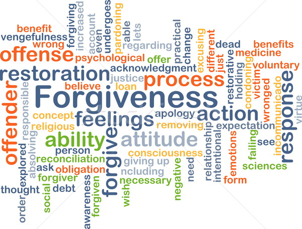Forgiveness background concept Stock photo © kgtoh