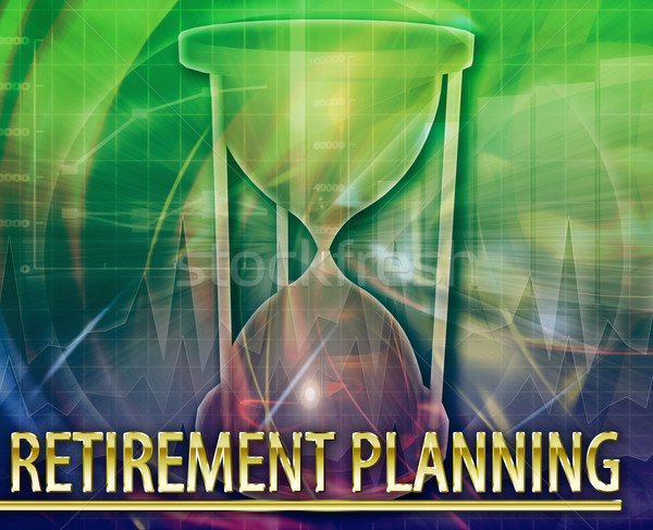 Retirement planning Abstract concept digital illustration Stock photo © kgtoh