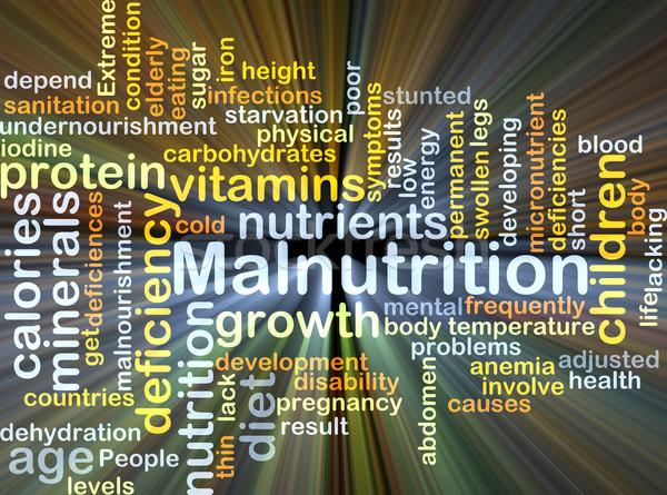 Malnutrition background concept glowing Stock photo © kgtoh