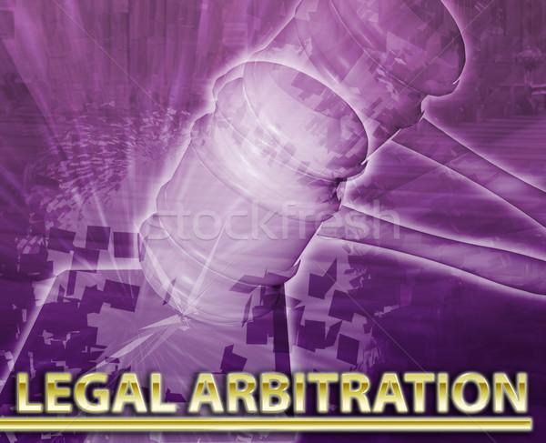 Legal arbitration Abstract concept digital illustration Stock photo © kgtoh