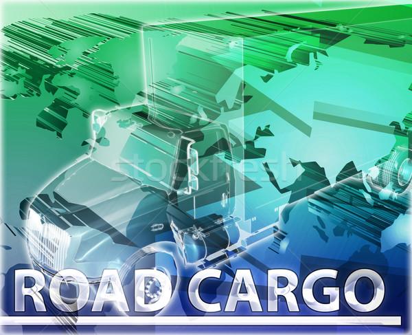 Strada carico abstract illustrazione digitale digitale collage Foto d'archivio © kgtoh