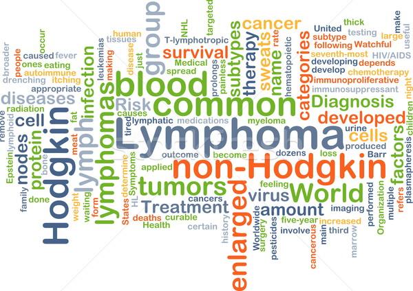Lymphoma background concept Stock photo © kgtoh