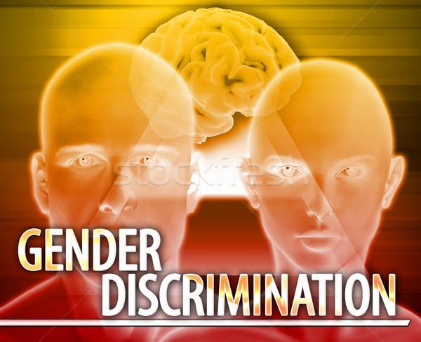 Sexe discrimination résumé illustration numérique numérique collage Photo stock © kgtoh