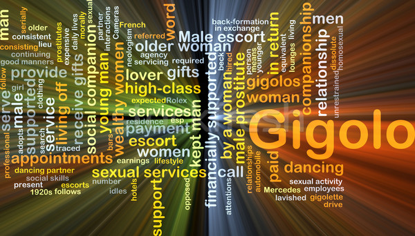 Gigolo background concept glowing Stock photo © kgtoh