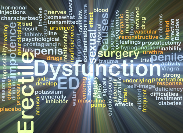Erectile dysfunction ED background concept glowing Stock photo © kgtoh
