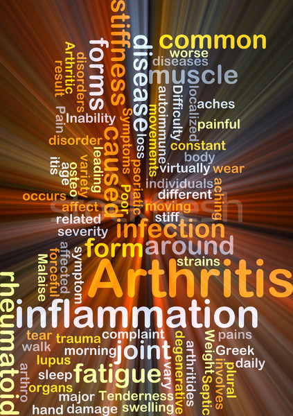 Arthritis background concept glowing Stock photo © kgtoh