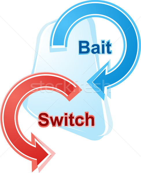 Bait and switch business diagram illustration Stock photo © kgtoh