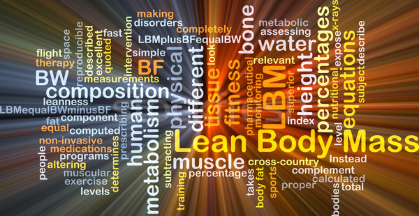 Lean body mass LBM background concept glowing Stock photo © kgtoh
