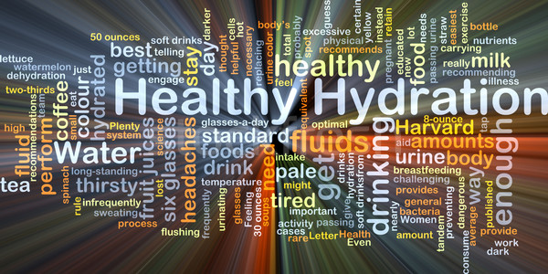 Healthy hydration background concept glowing Stock photo © kgtoh