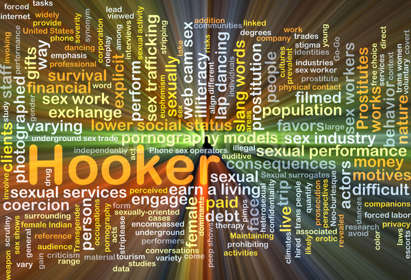 Hooker background concept glowing Stock photo © kgtoh