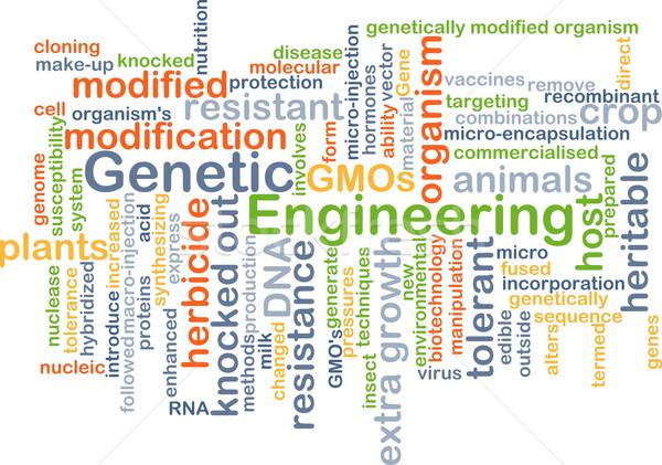 Genetikai mérnöki háttér szófelhő illusztráció terv Stock fotó © kgtoh