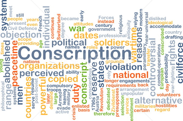 Conscription background concept Stock photo © kgtoh
