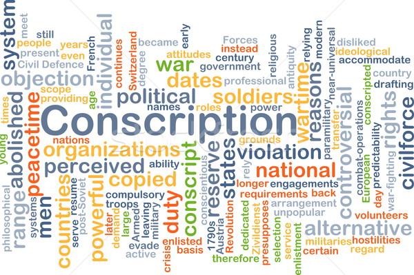 Stock photo: Conscription background concept