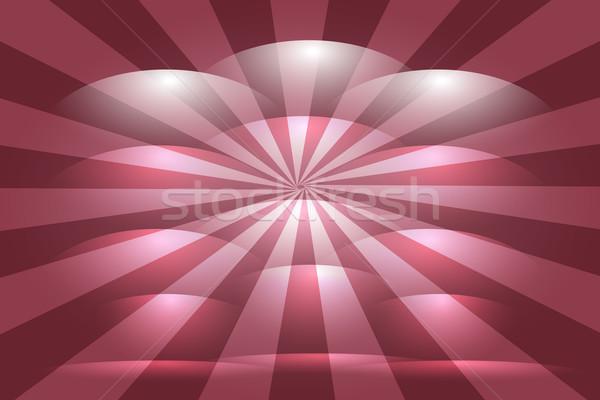 Piros vonalak csíkok absztrakt vektor művészet Stock fotó © Kheat