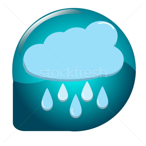 雲 雨 天気 アイコン ボタン ストックフォト © Kheat