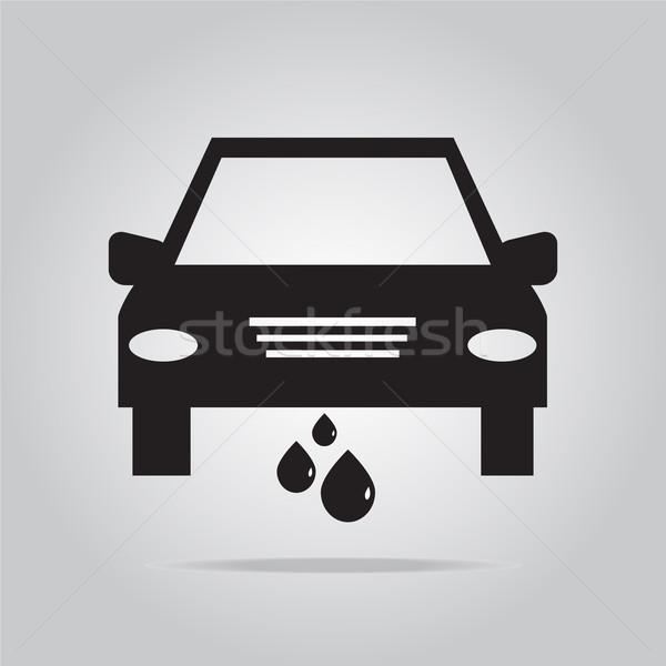 Auto dienst icon illustratie zwarte machine Stockfoto © Kheat