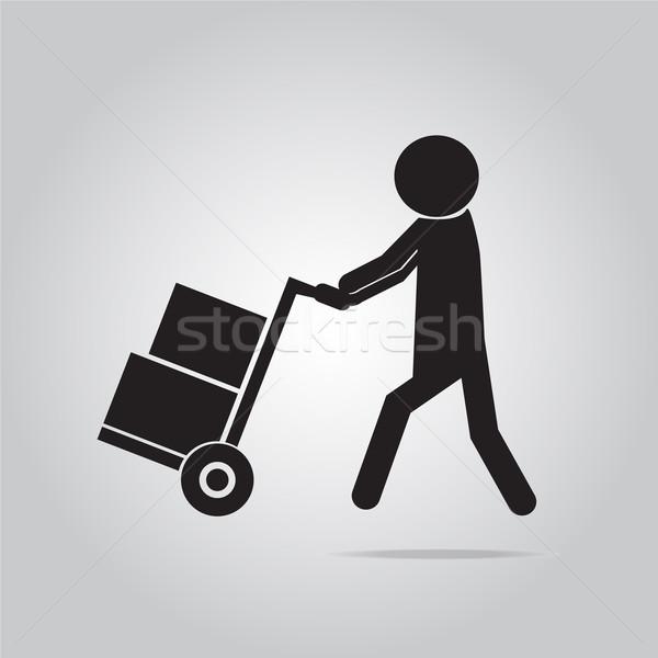 handcart symbol illustration Stock photo © Kheat