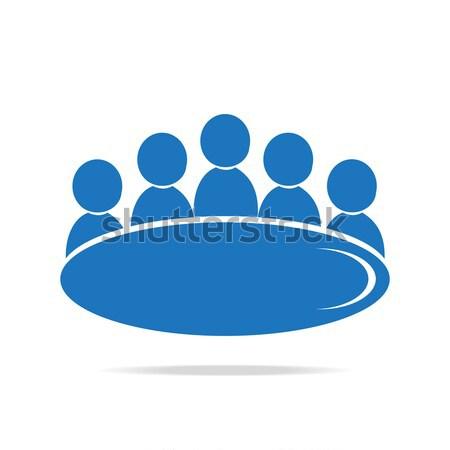 Meeting Business icon Stock photo © Kheat