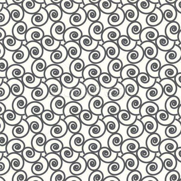 seamless vector swirl wave Japanese pattern background Stock photo © Kheat