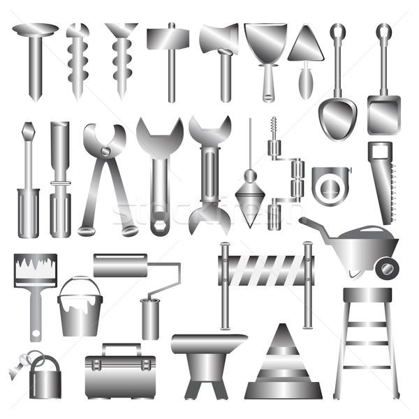 Working tools metal icon Stock photo © Kheat