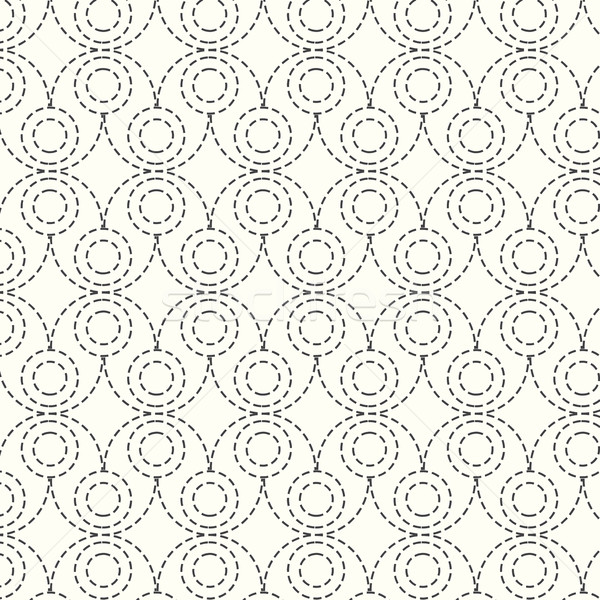 seamless vector pattern dash circle background Stock photo © Kheat