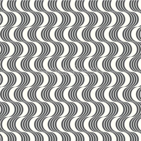 vector seamless pattern geometric with wavy Stock photo © Kheat