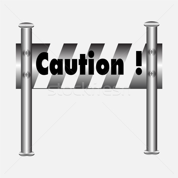 barricade warning sign Stock photo © Kheat