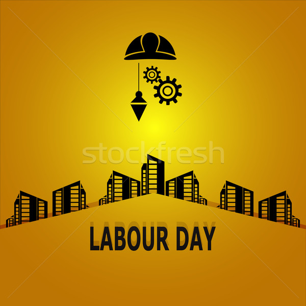 Labour day, construction concept illustration Stock photo © Kheat