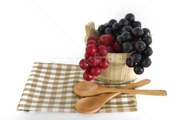 木製 料理 バケット 白 キッチン ストックフォト © Kheat