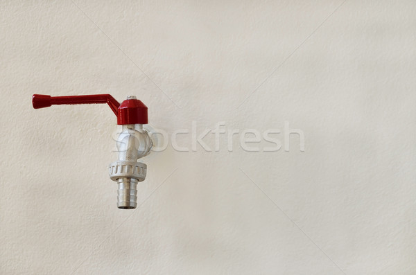 faucet valve on wall background Stock photo © Kheat