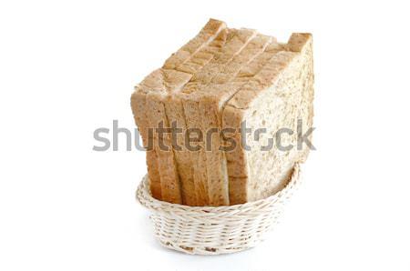 Pan de trigo entero rebanada cesta pan trigo blanco Foto stock © Kheat