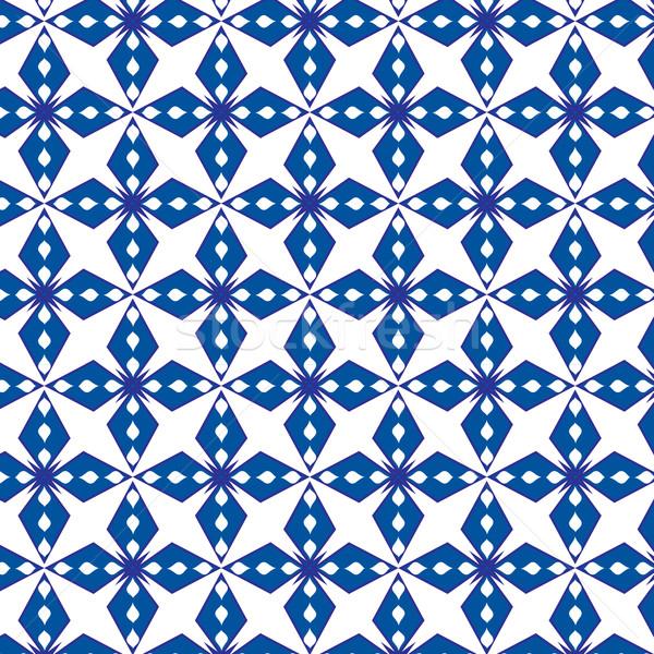 抽象的な 幾何学的な 青 パターン シームレス ベクトル ストックフォト © Kheat