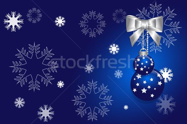 Absztrakt karácsony kék vektor égbolt művészet Stock fotó © Kheat