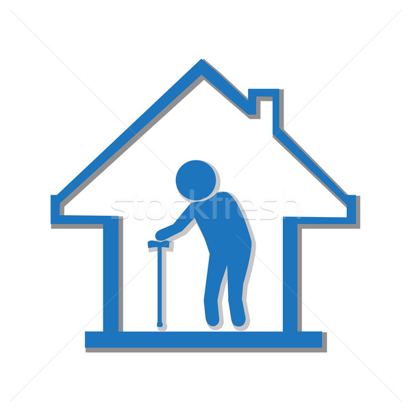 Nursing home symbol, illustration Stock photo © Kheat