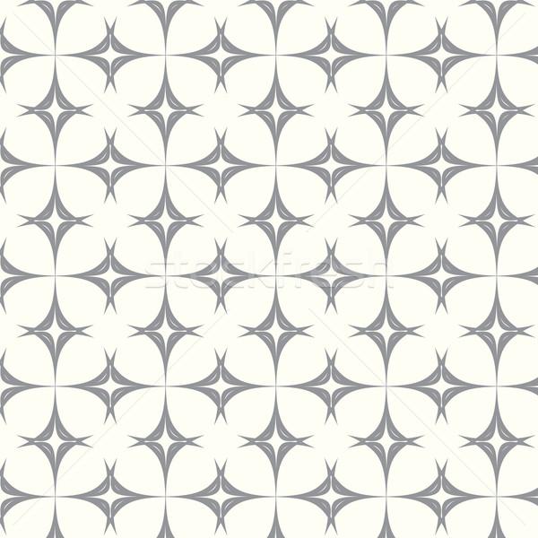 seamless pattern curve monochrome vector background Stock photo © Kheat