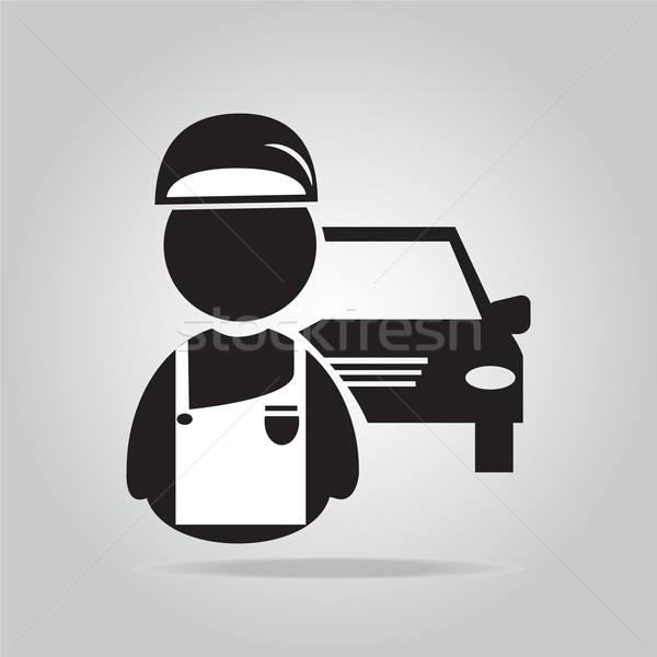 Car service, Mechanic man icon illustration Stock photo © Kheat