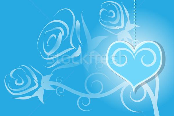 Dia dos namorados rosa coração azul ilustração abstrato Foto stock © Kheat