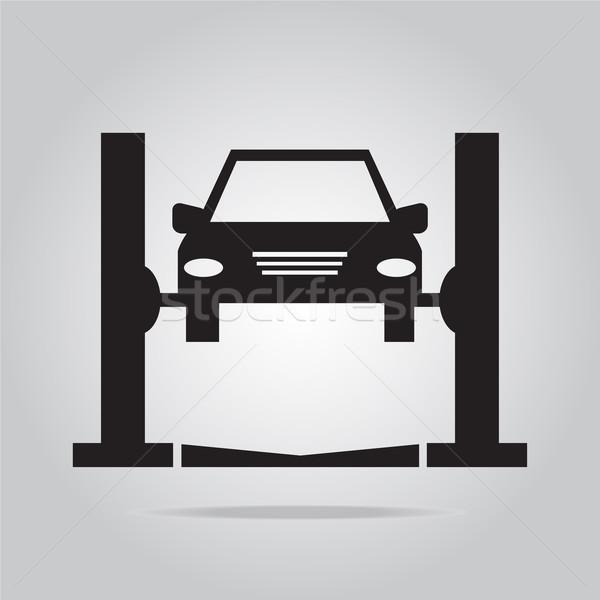 Auto dienst icon zwarte machine monteur Stockfoto © Kheat