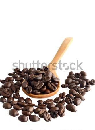 Kávé fakanál izolált fehér ital sötét Stock fotó © Kheat