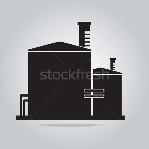 Industrial building factory icon illustration Stock photo © Kheat