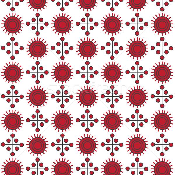 Piros absztrakt végtelenített vektor minta textúra Stock fotó © Kheat