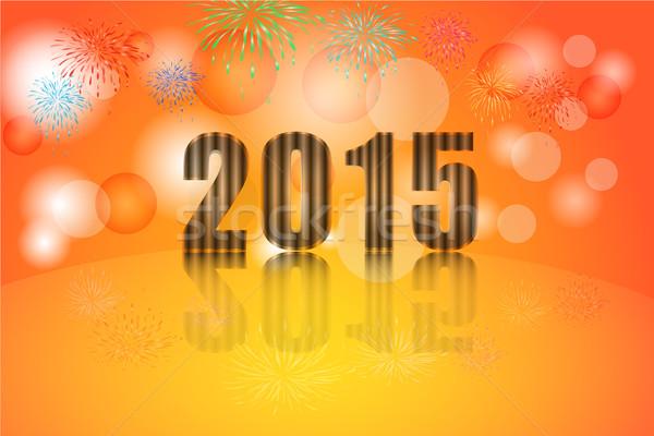 2015 year celebration, Illustration vector background Stock photo © Kheat