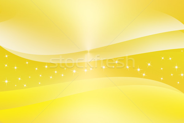 Abstract curve gloed Geel achtergrond star Stockfoto © Kheat